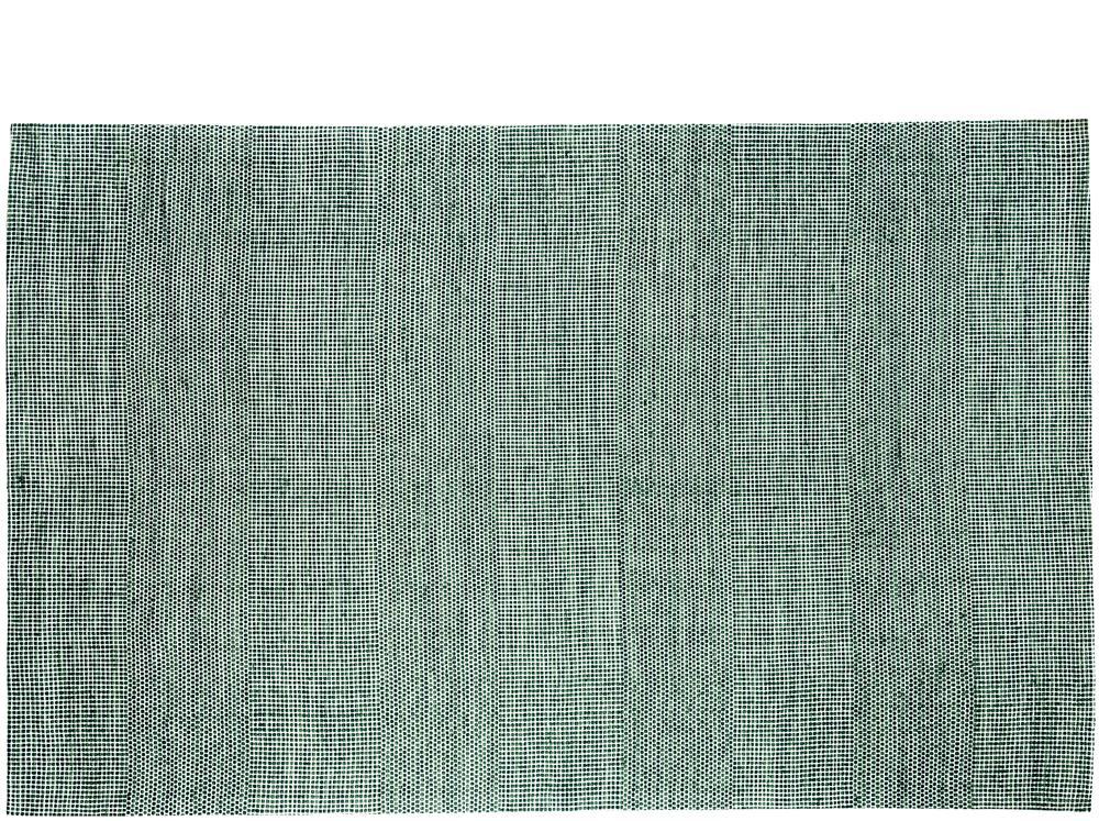 Tapis rectangulaire vert