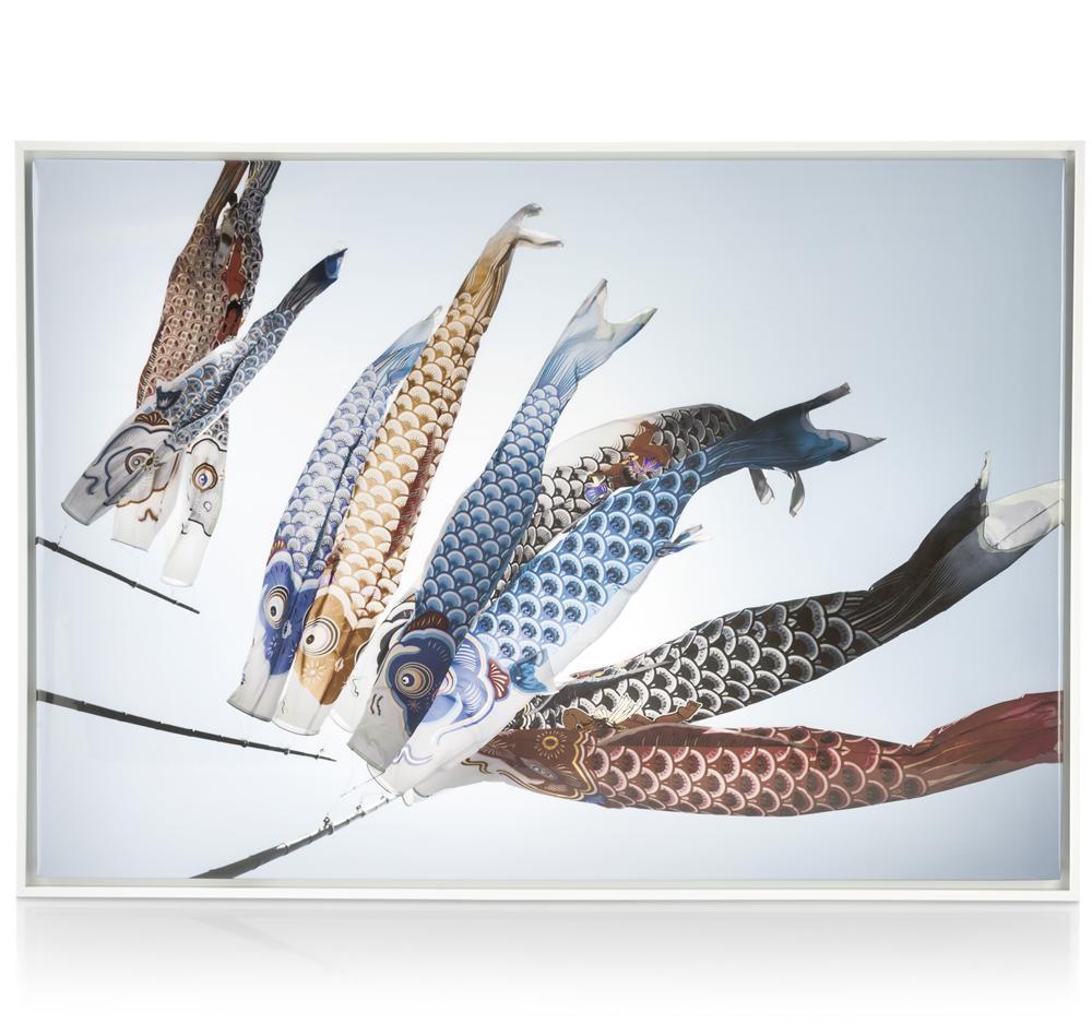 Tableau drapeaux poissons au vent
