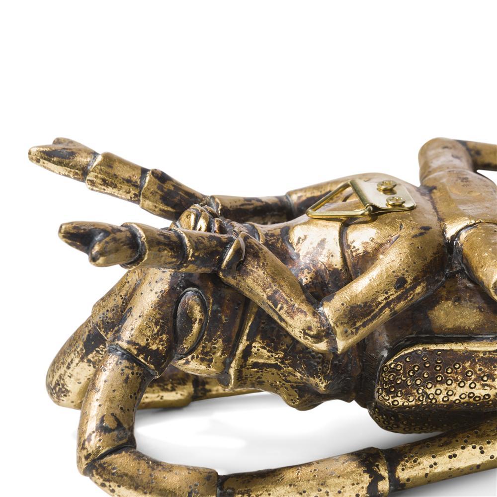 Ensemble de 3 insectes décoratifs gold