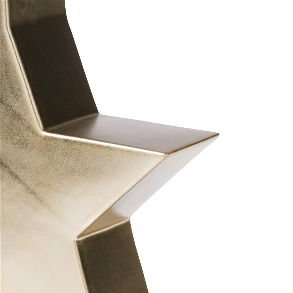 Vase gold en forme d'étoile