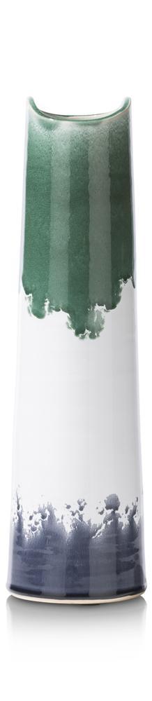 Vase tricolore en terracotta