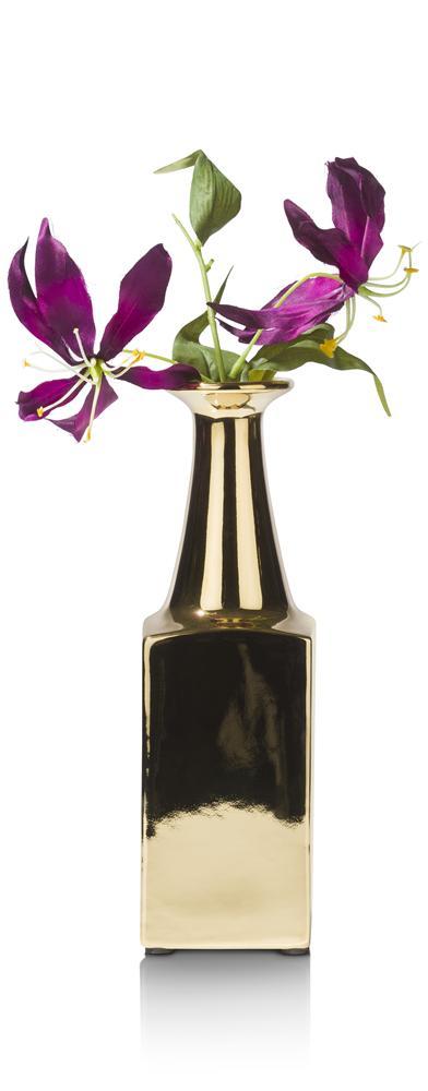 Vase gold en terracotta