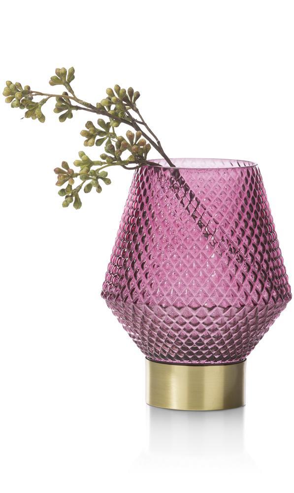 Vase en verre violet et gold