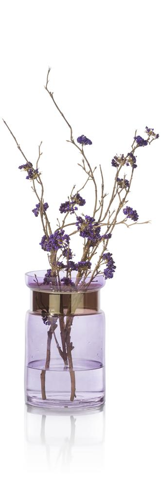 Vase bicolore violet