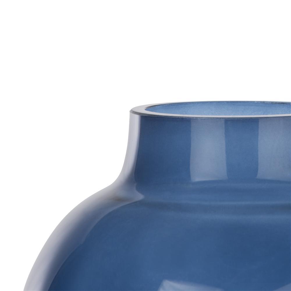 Vase bicolore bleu noir