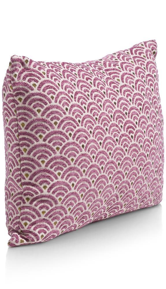 Coussin rectangulaire motif rose
