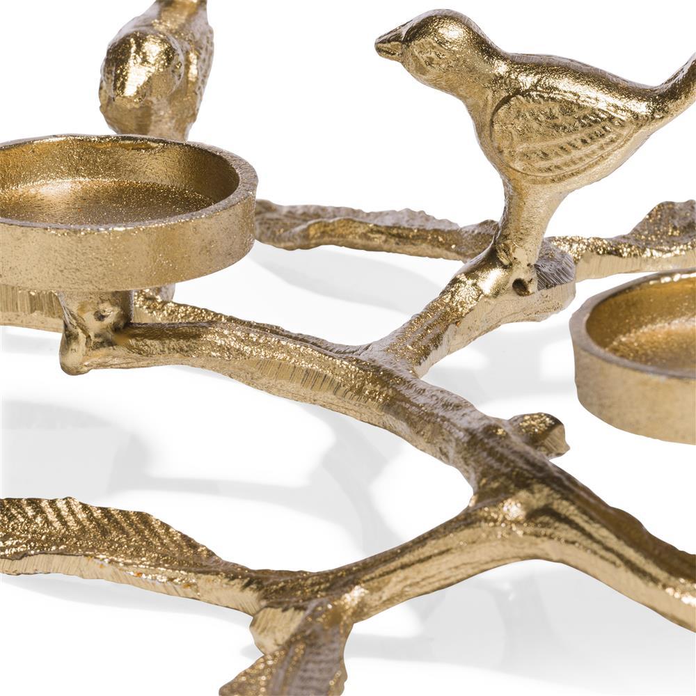 Chandelier gold branches d'arbre