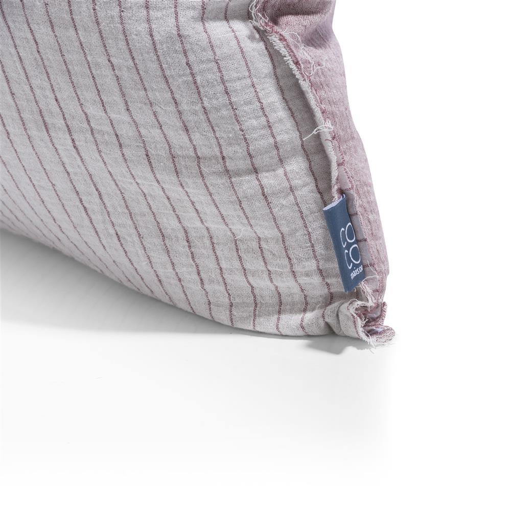 Coussin en coton carré à rayures
