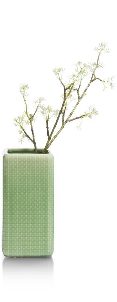Vase en céramique vert