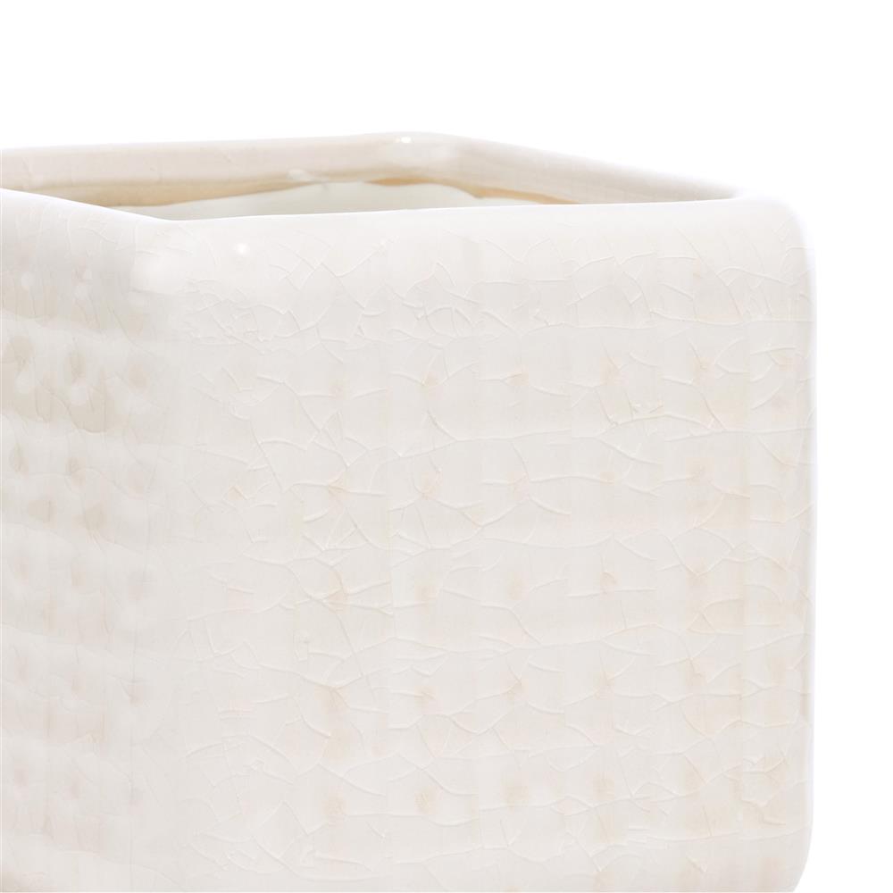 Pot en céramique blanc