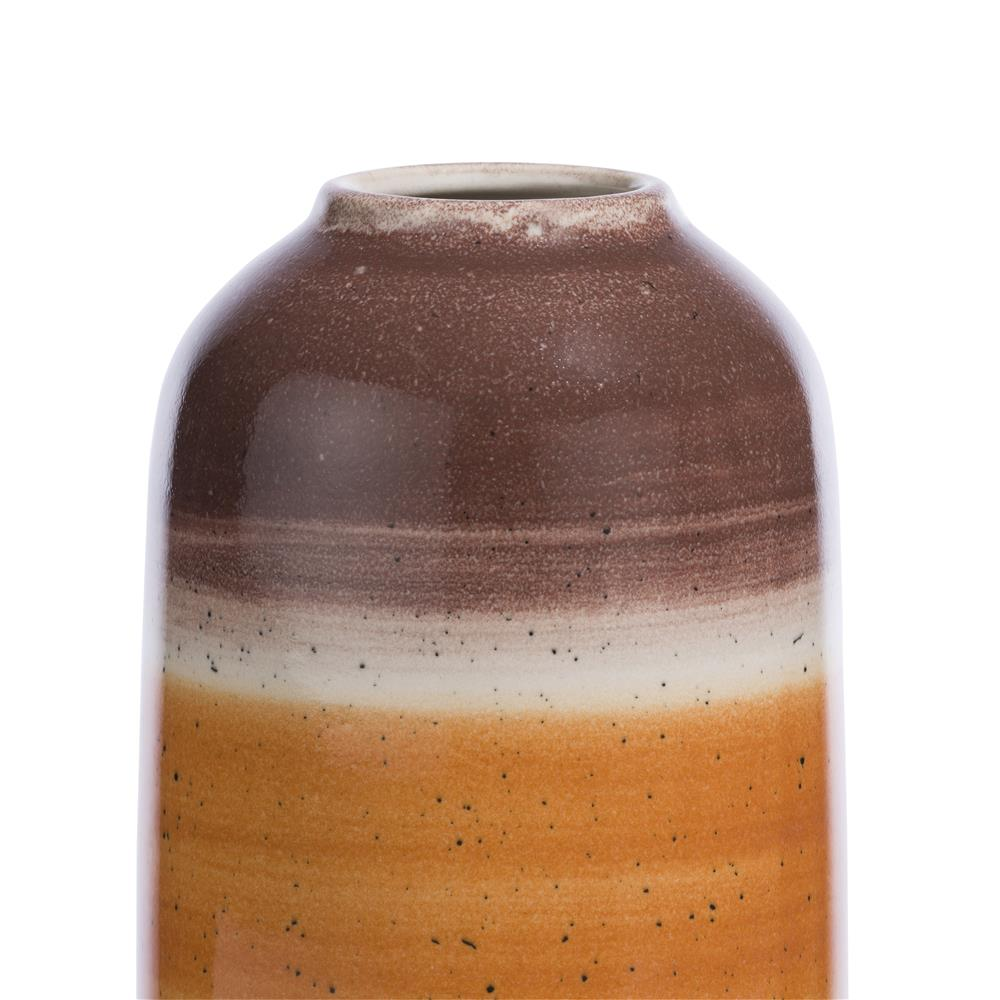 Vase en céramique orange beige marron