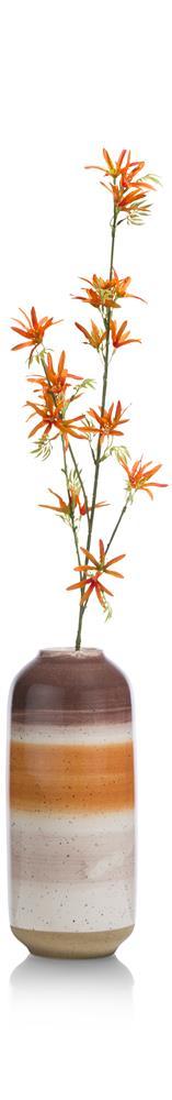 Vase en céramique orange beige marron