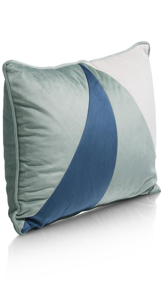 Coussin rectangulaire tricolore