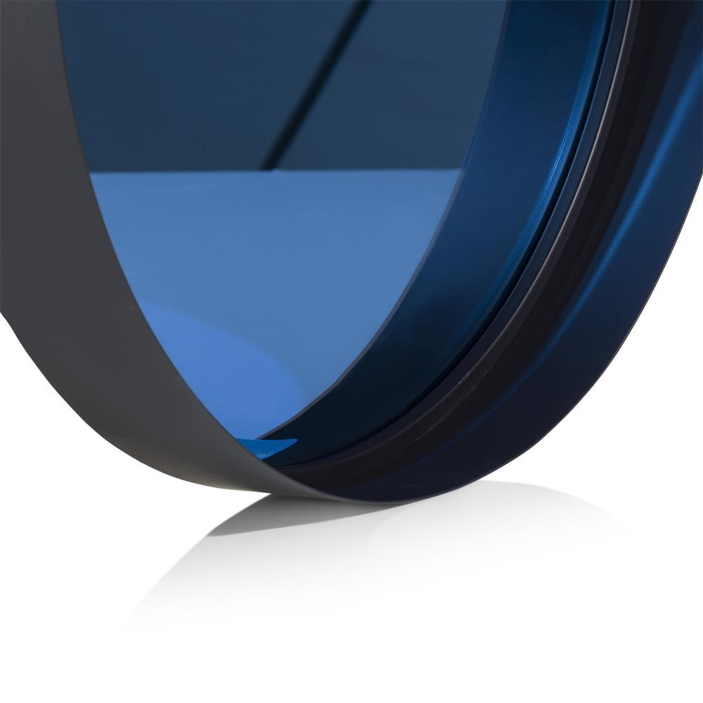 Miroir rond bleu