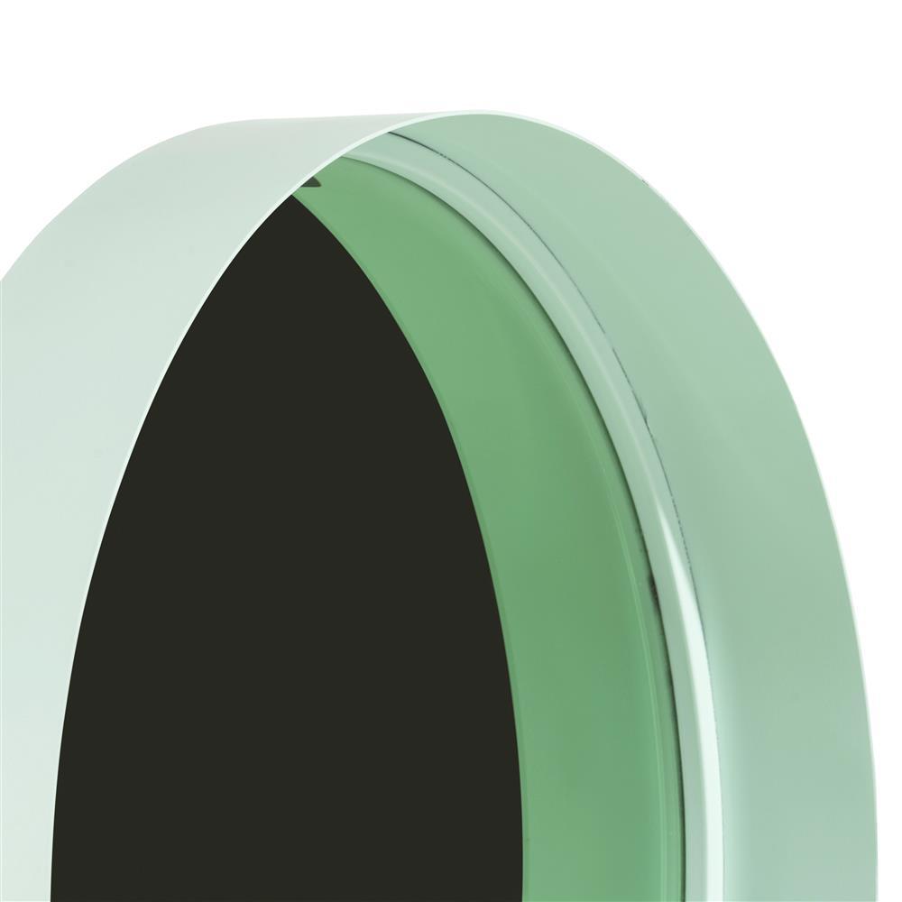 Miroir rond vert menthe