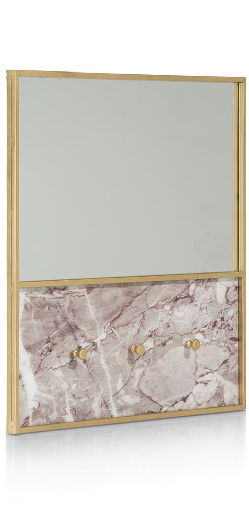 Miroir et porte-bijoux détails gold