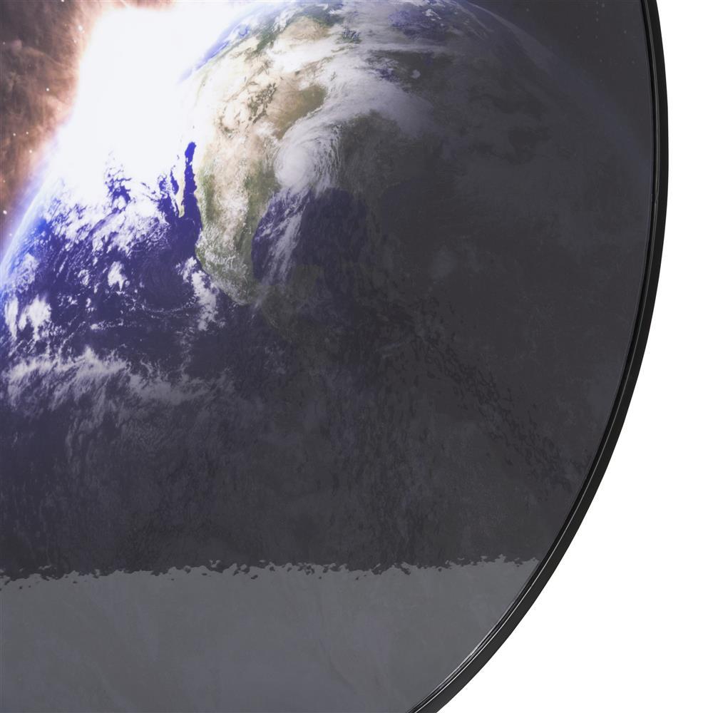 Décoration murale ronde vue satellite de la Terre