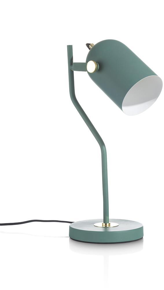 Lampe de bureau en acier vert