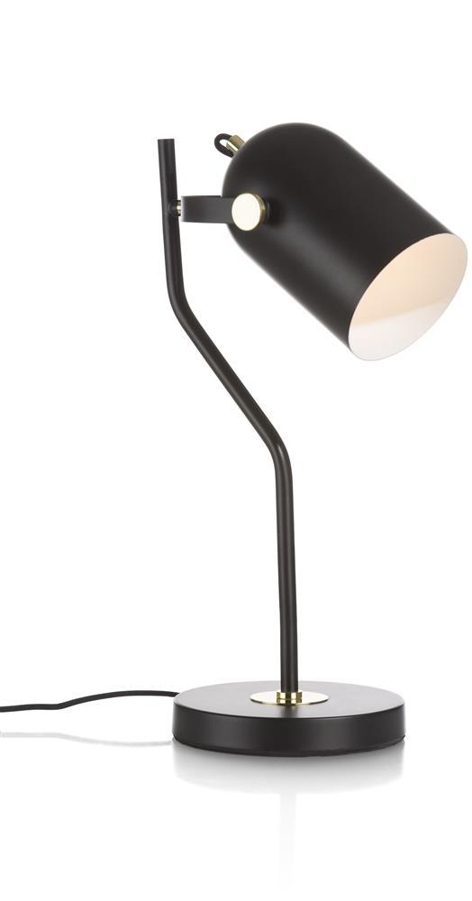 Lampe de bureau en acier noir
