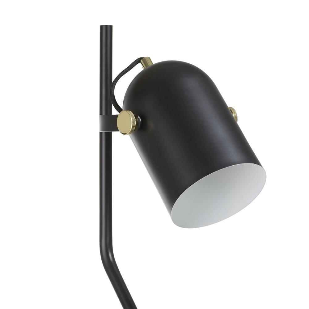 Lampe sur pied noire minimaliste