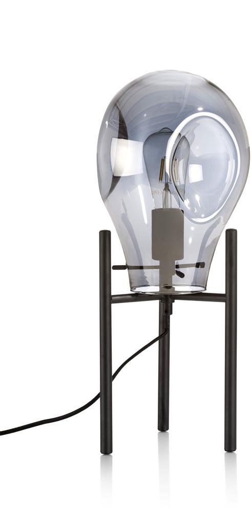 Lampe de bureau grise et noire