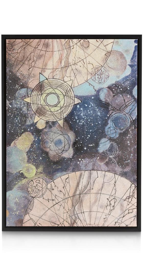 Peinture multicolore espace