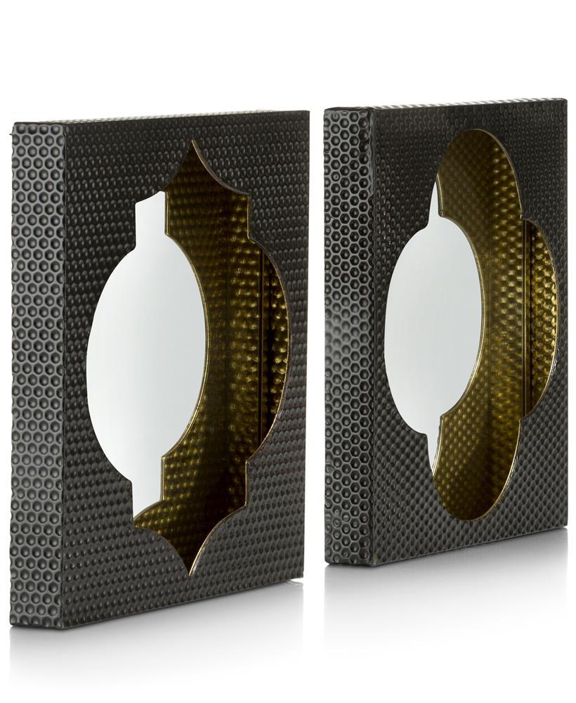 Miroirs noir et or motifs marocains