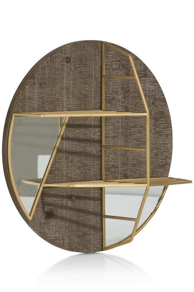 Étagère avec fond miroir détails gold