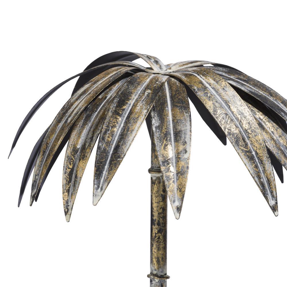 Objet tendance palmier gold vieilli
