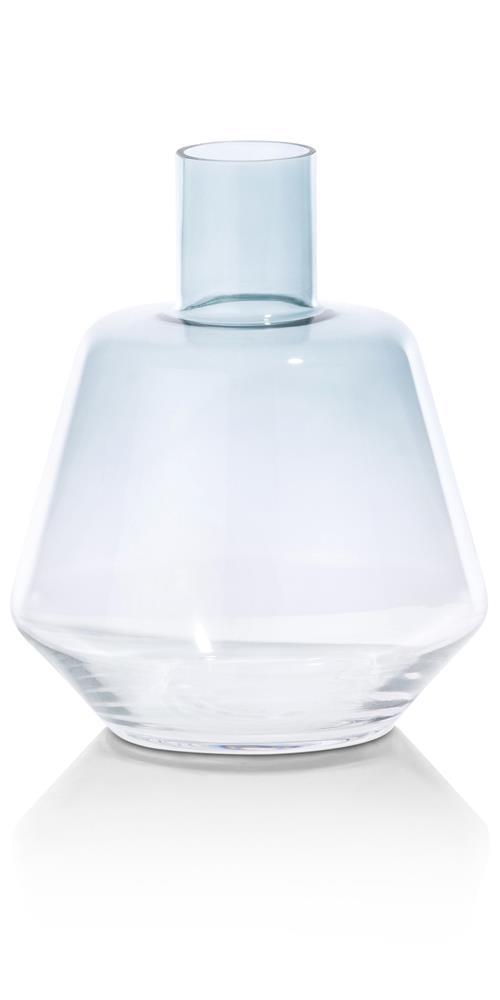 Vase en verre couleur menthe