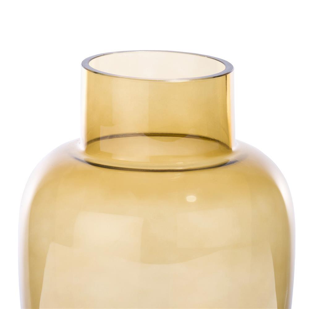 Vase en verre jaune