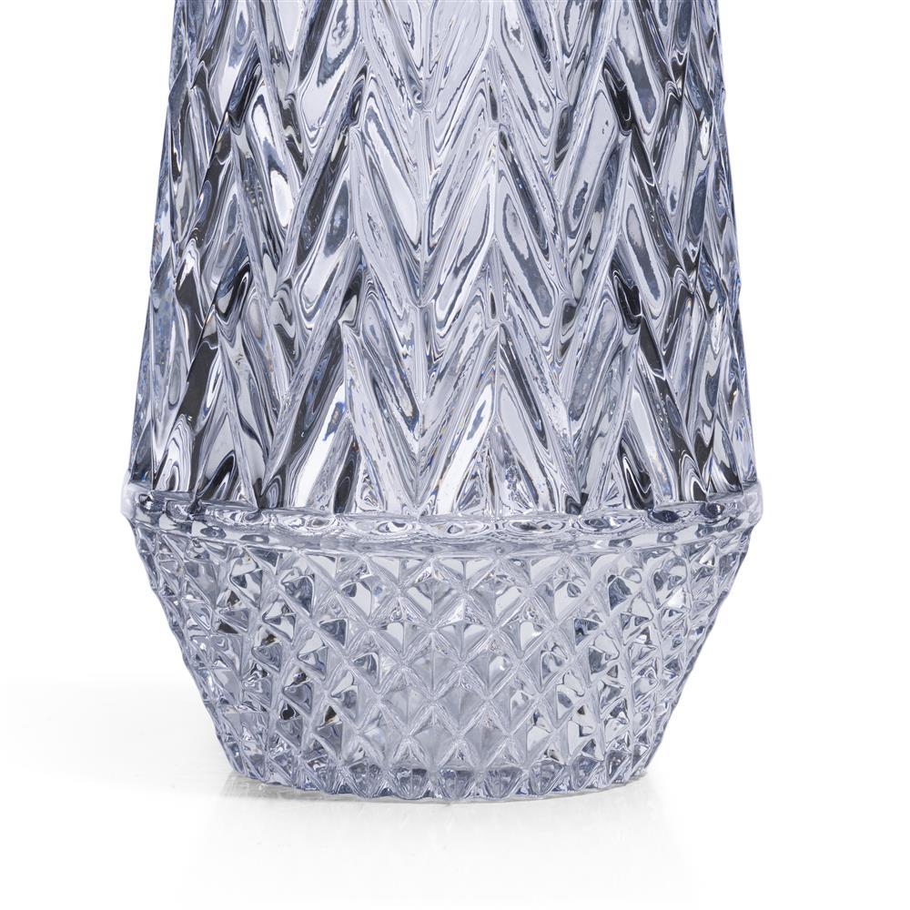 Vase en verre anthracite