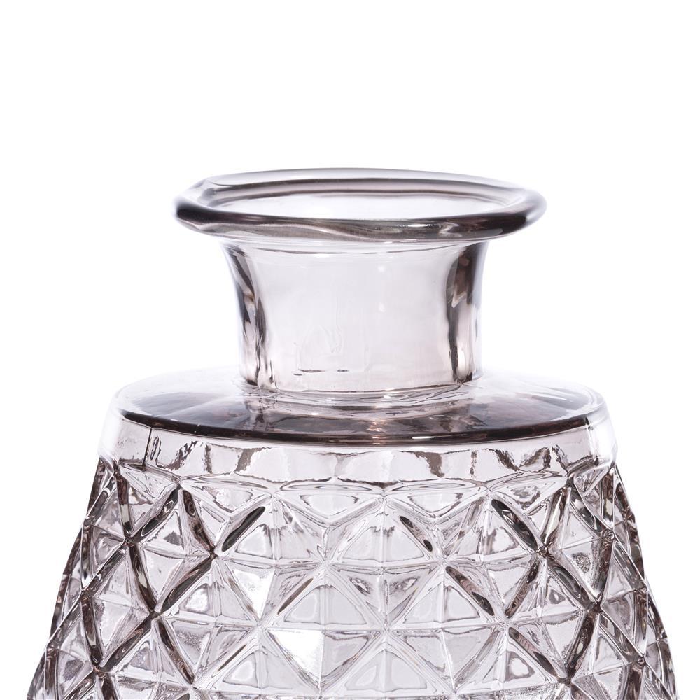 Vase en verre beige