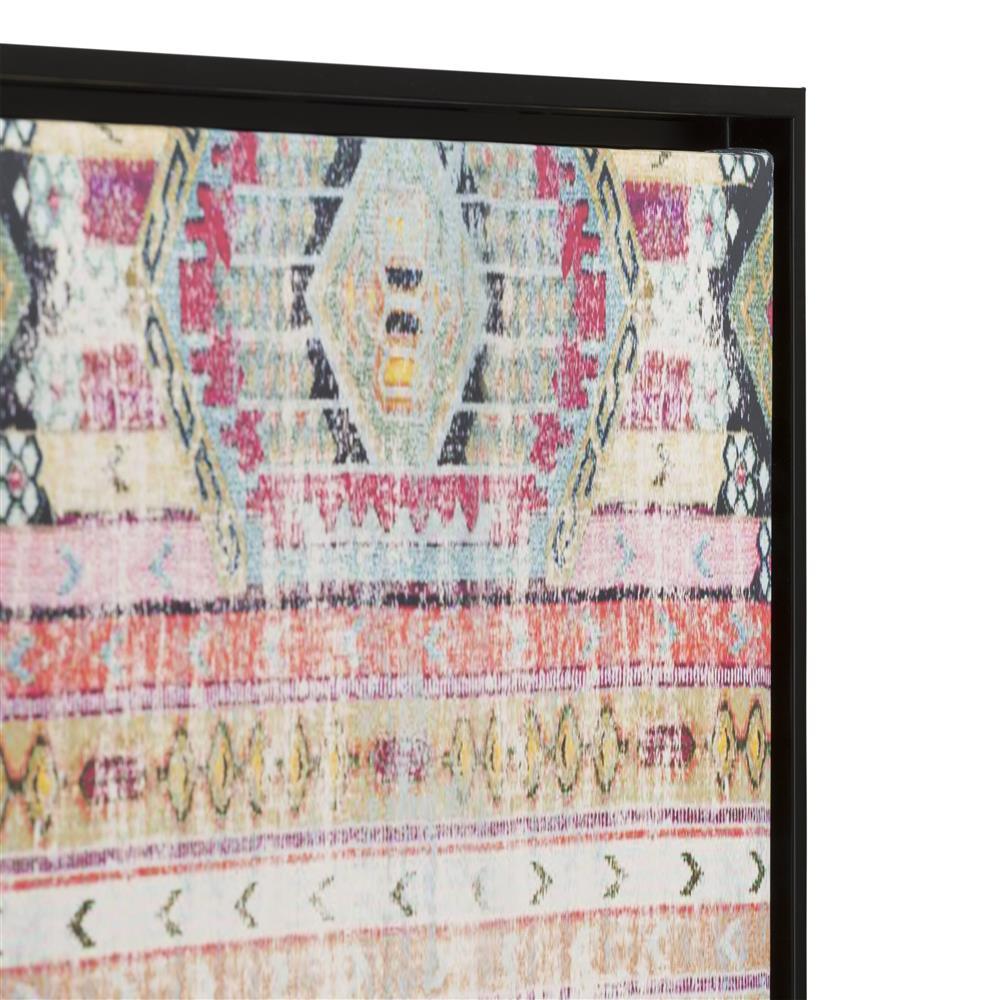 Décoration murale toile motifs ethniques cadre noir