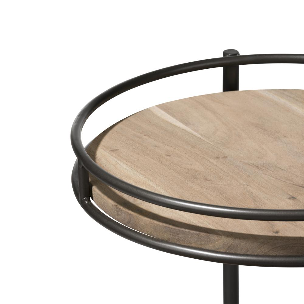 Table d'appoint bois et métal 3 niveaux
