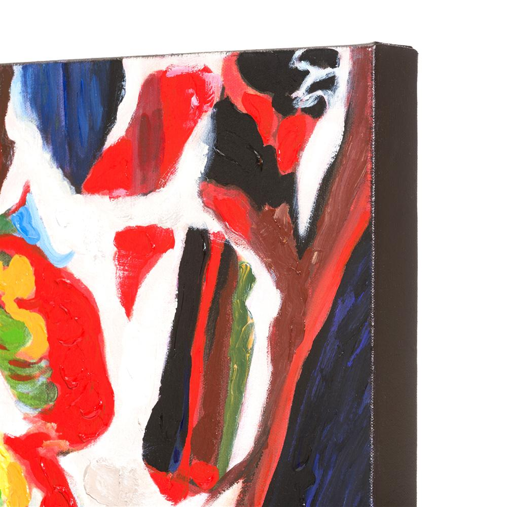 Peinture savane multicolore style patchwork