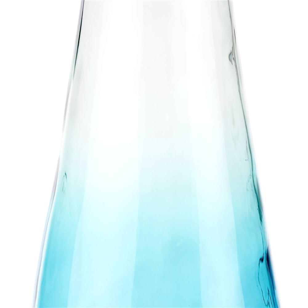 Vase bouteille dégradé bleu