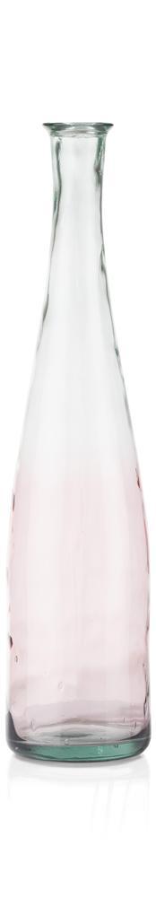 Vase bouteille dégradé rose