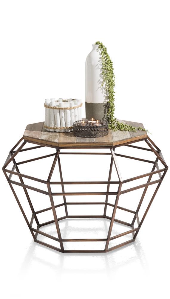 Table d'appoint avec vase et photophores