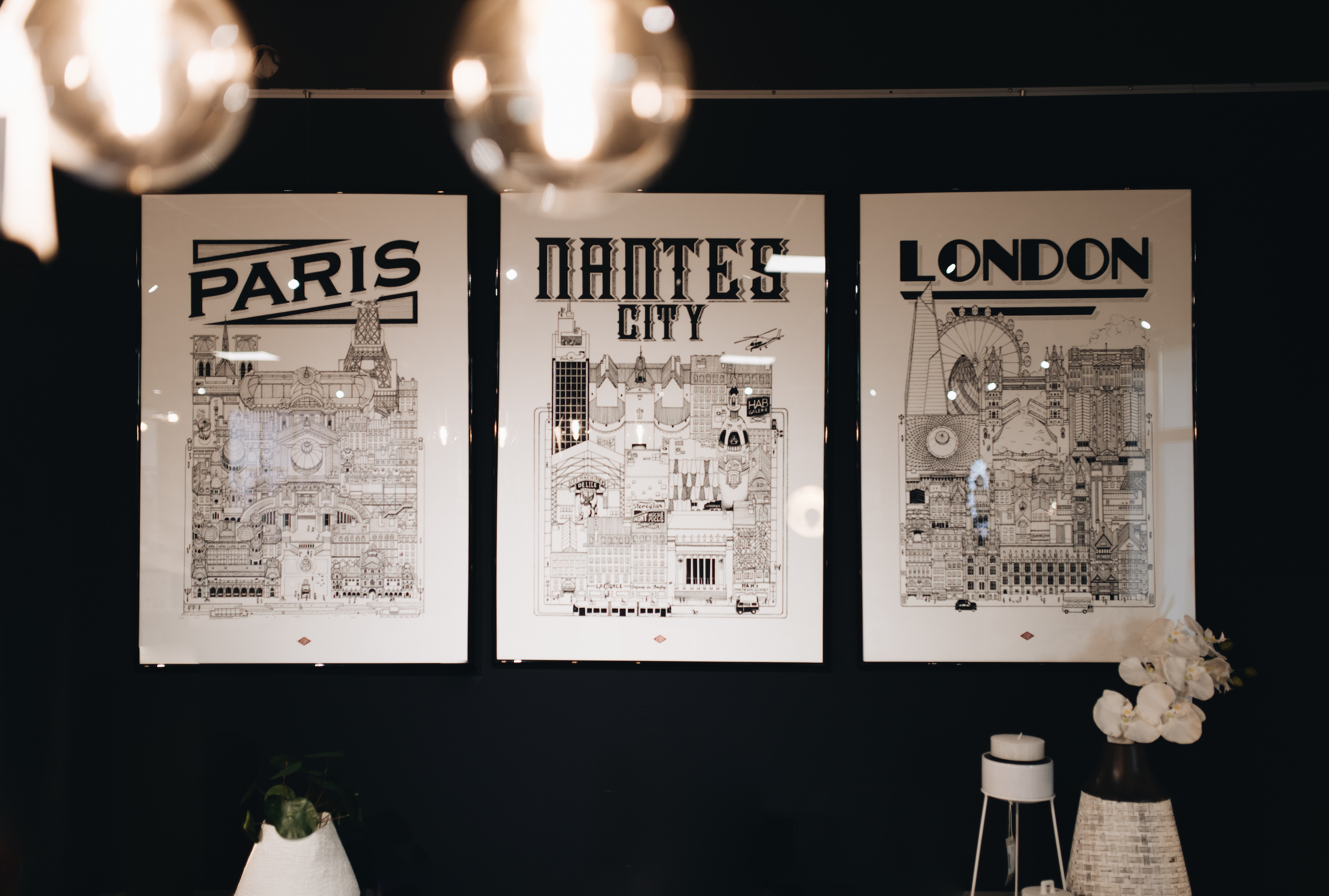 illustrations design villes nantes paris londres