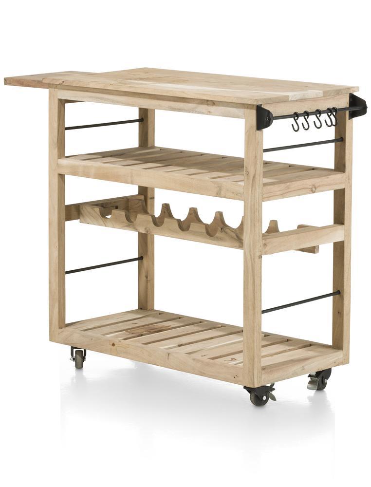 Desserte rectangulaire en bois 4 niveaux