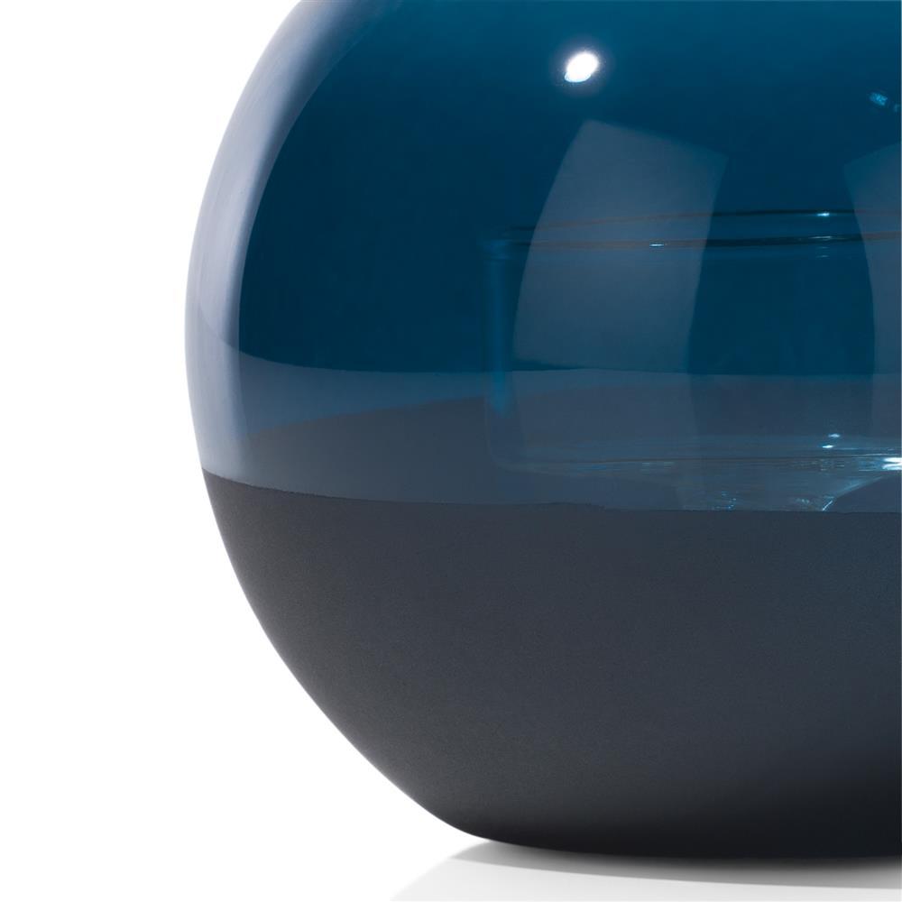 Photophore bleu forme boule