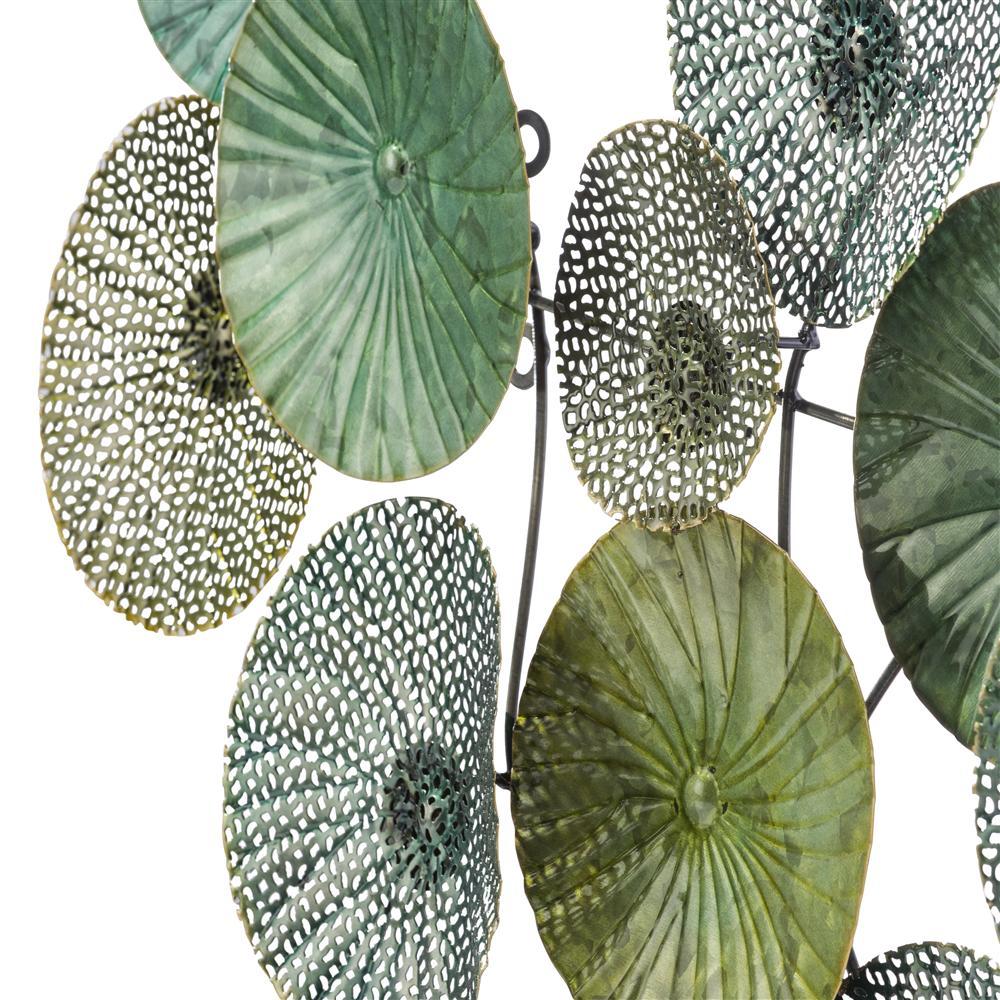 Décoration murale en métal vert