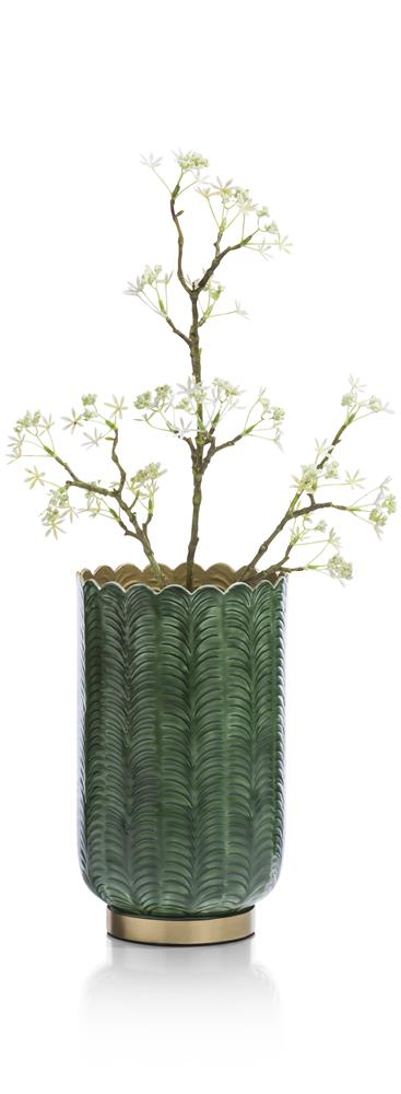Vase en aluminium gold et vert sapin