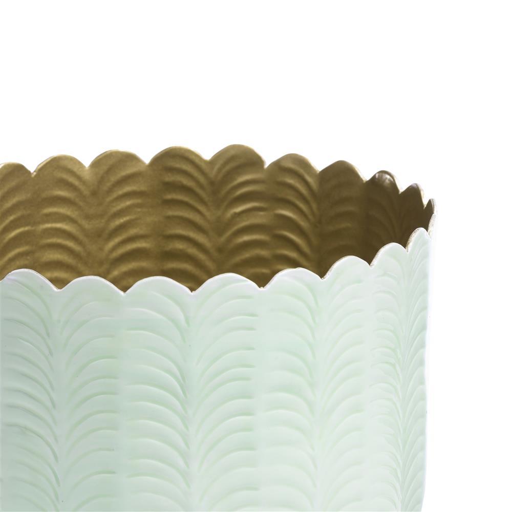 Pot de fleurs menthe et gold
