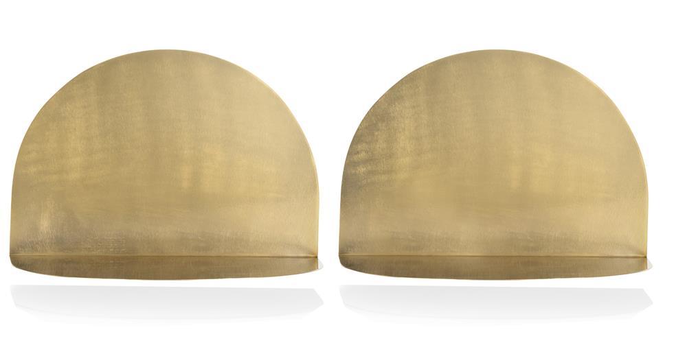 Etagère arc de cercle en métal doré