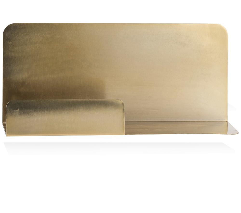 Etagère minimaliste en métal doré