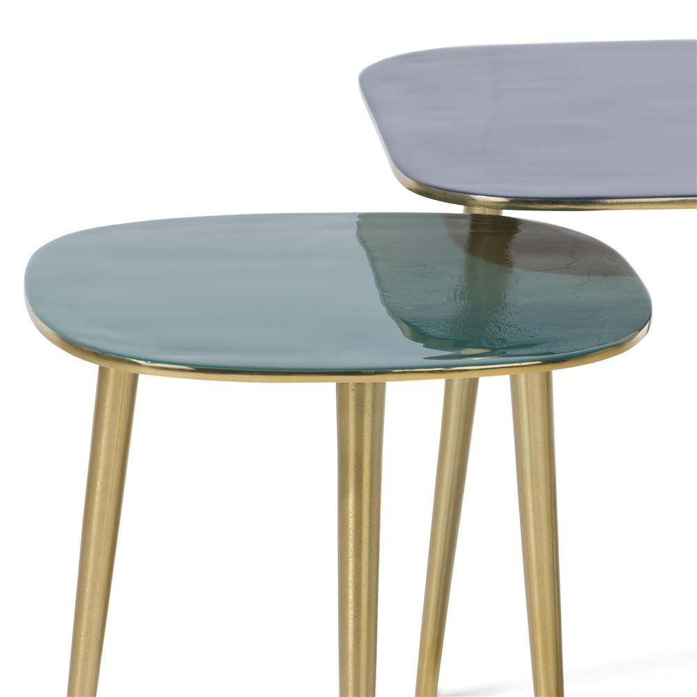 Table d'appoint double pieds gold