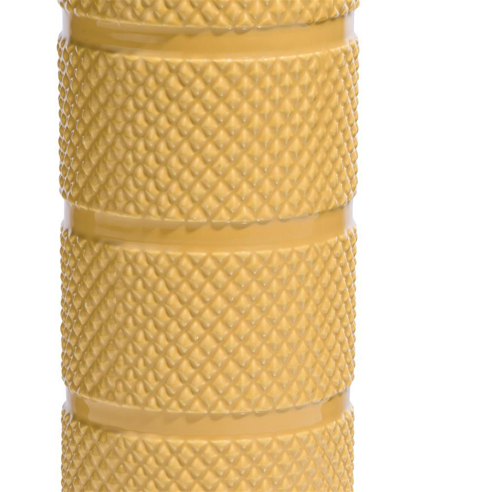Vase en céramique jaune