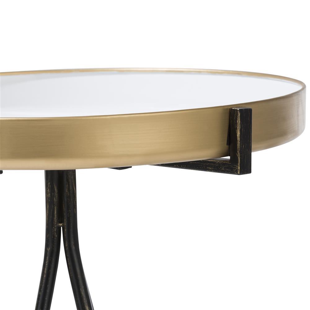 Bout de canapé minimaliste noir gold blanc